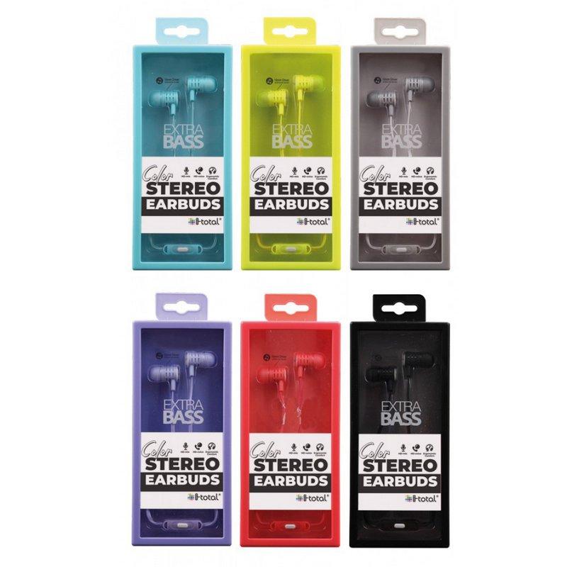 Ακουστικά i-total Stereo Earbuds (σε Διάφορα Χρώματα)