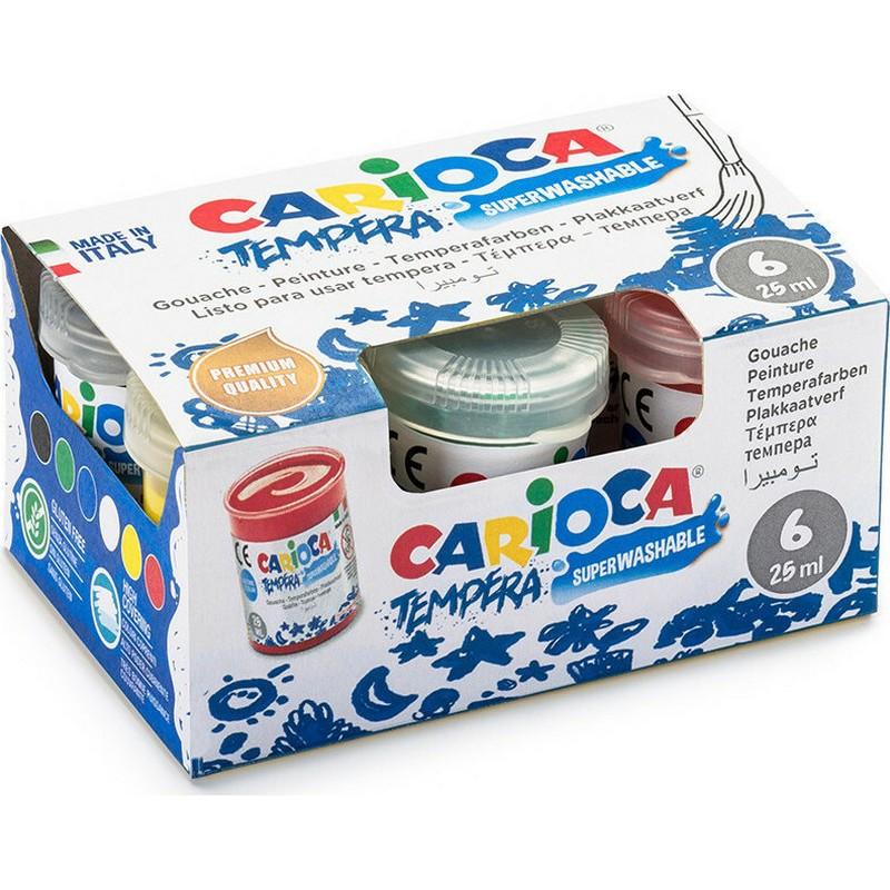 Τέμπερες Carioca 6 Χρώματα 25ml
