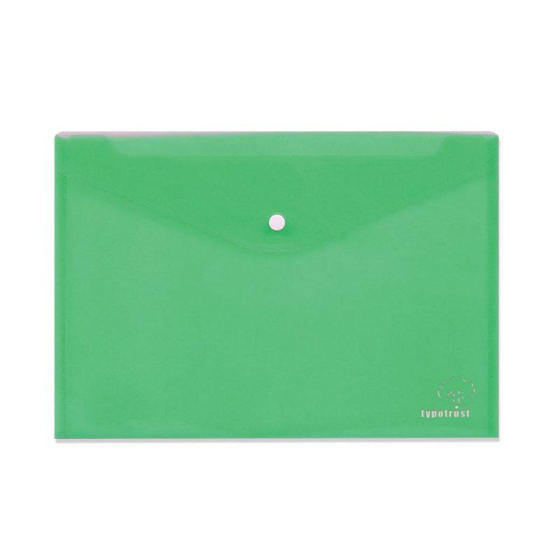 Φάκελος Με Κουμπί Τυποτράστ Α4 Πράσινο