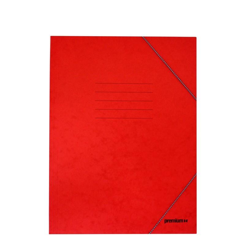 Ντοσιέ Με Λάστιχο Prespan Premium Κόκκινο 12805 (25 x 35 cm)