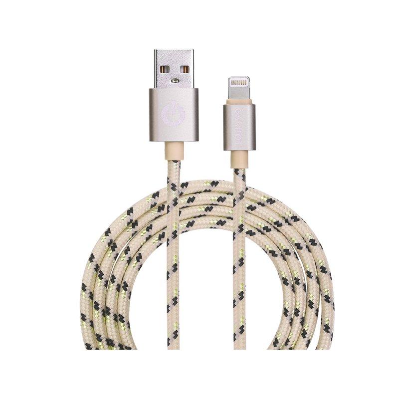 Καλώδιο Φόρτισης Κινητού Τηλεφώνου Garbot Grab&Go USB A Lightning 1m Χρυσό (C-05-10188) (GARC-05-10188)