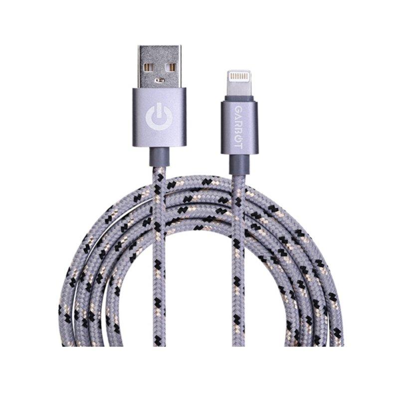 Καλώδιο Φόρτισης Κινητού Τηλεφώνου Garbot Grab&Go USB A Lightning 1m Ασημί (C-05-10189) (GARC-05-10189)