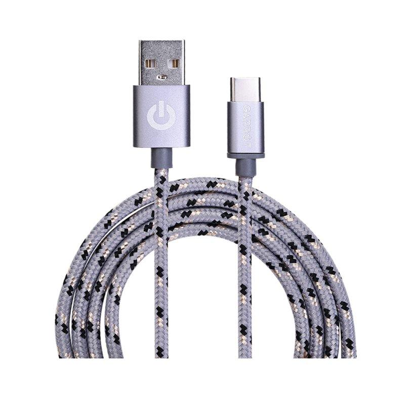 Καλώδιο USB Garbot Grab&Go 1 m USB A USB C Ασημί (C-05-10192) (GARC-05-10192)