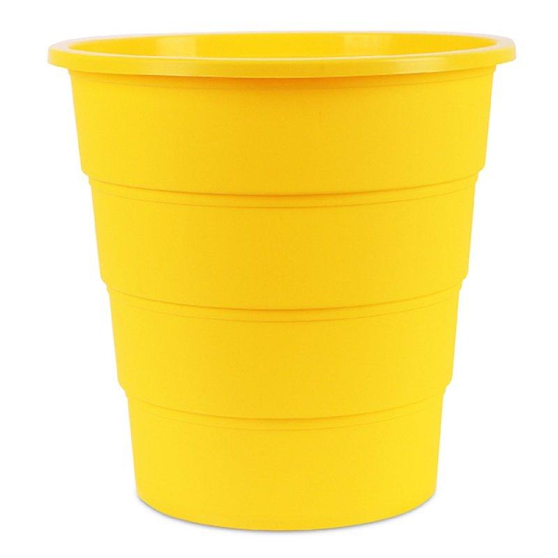 Κάδος Αχρήστων Office Products, Τύπος Κουβά, 16L Κίτρινο