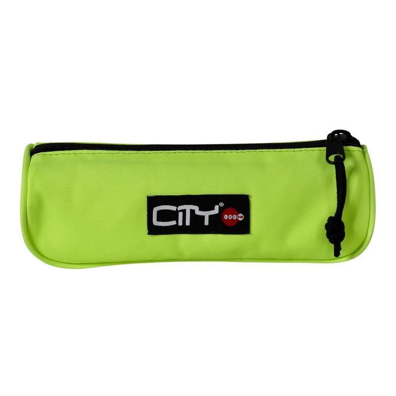 Κασετίνα Βαρελάκι City Fluo Eclair Φωσφοριζέ Κίτρινο CB13999