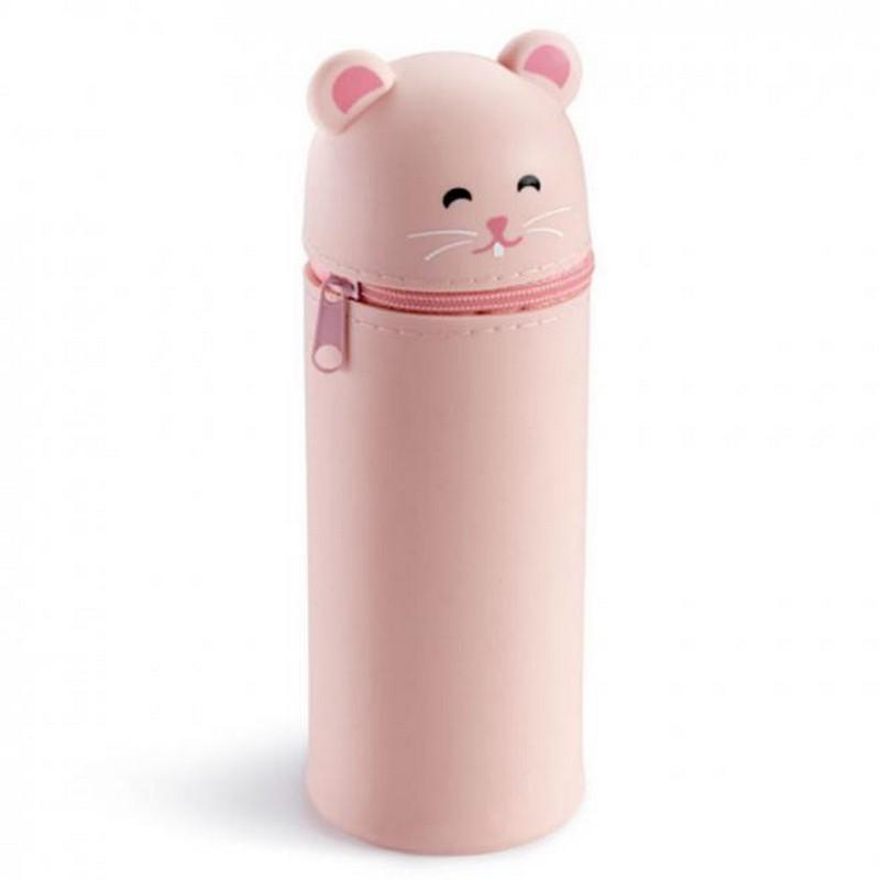 Kασετίνα Βαρελάκι Με Σιλικόνη Miquelrius My Little Pet Ροζ 16x6cm 19034