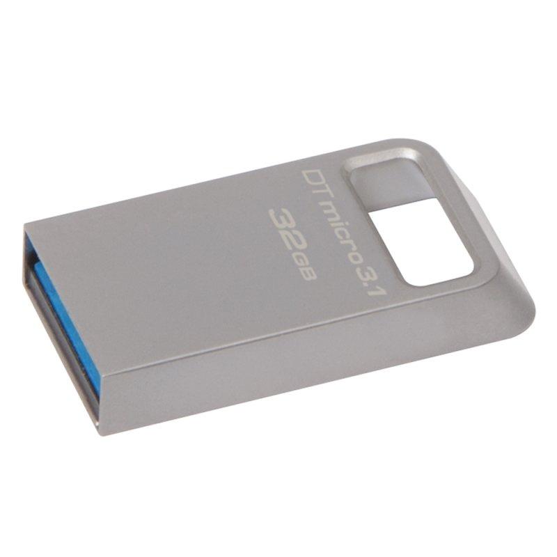 USB 3.1 Flash Drive Kingston DataTraveler Micro 32GB Ασημί (DTMC3/32GB) (KINDTMC3/32GB)