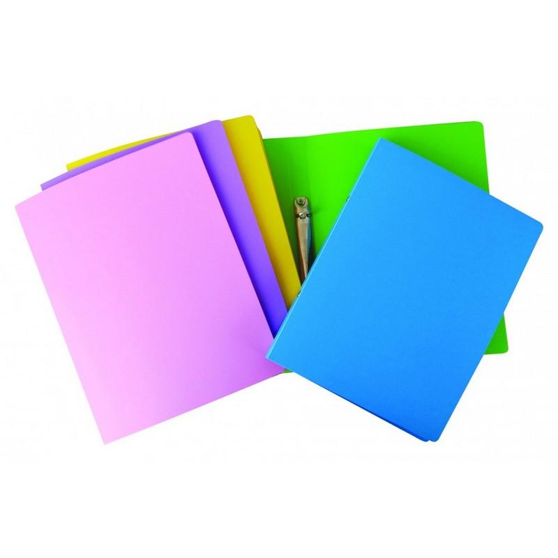 Κλασέρ 2 Κρίκων PP Uni Pap Παστέλ Χρώματα Α4 5-47-06