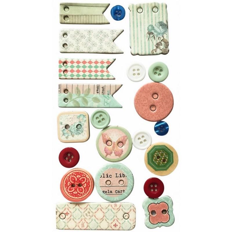 Κουμπιά Junior Art School Σε Διάφορα Σχέδια&Μεγέθη 137604