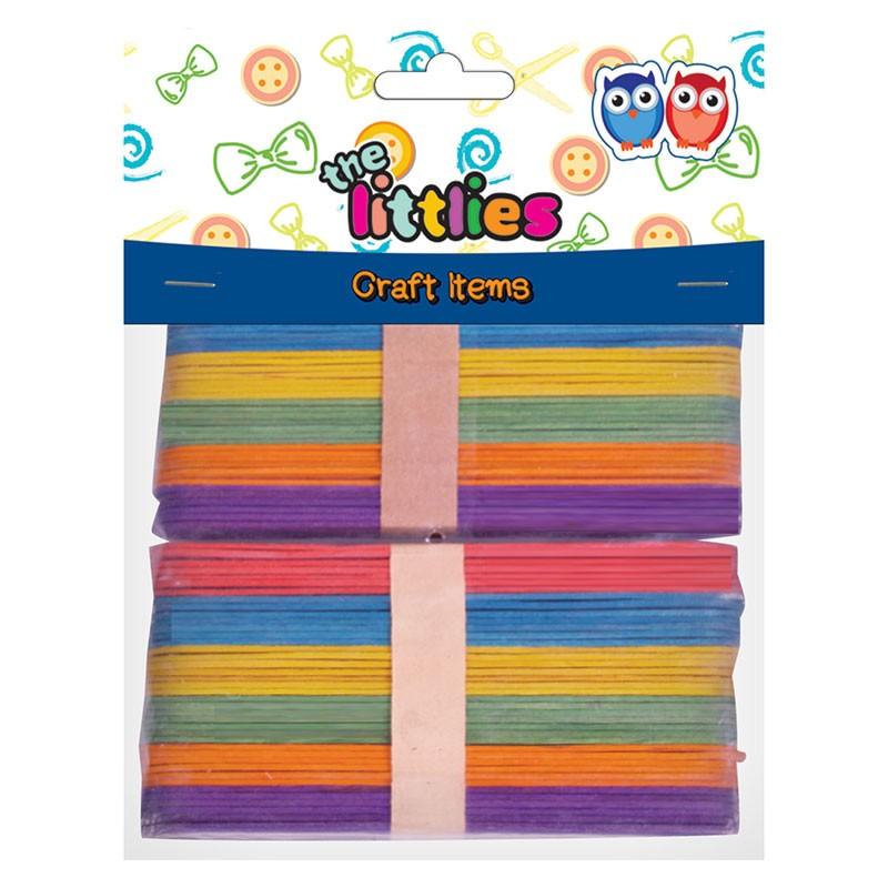 Ξυλάκια Χρωματιστά The Littles Σε Διάφορα Χρώματα 150mm 80τμχ