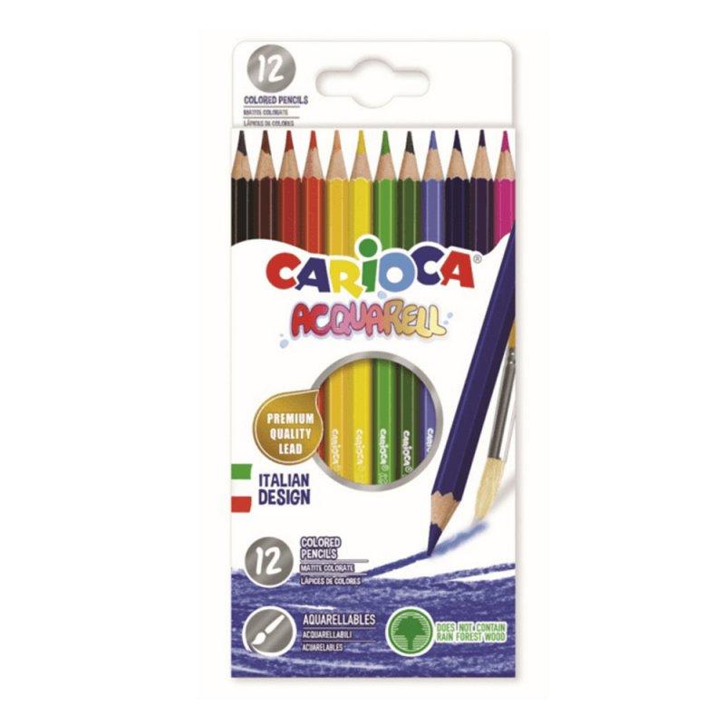 Ξυλομπογιές Carioca Acquarell 12 Χρωμάτων