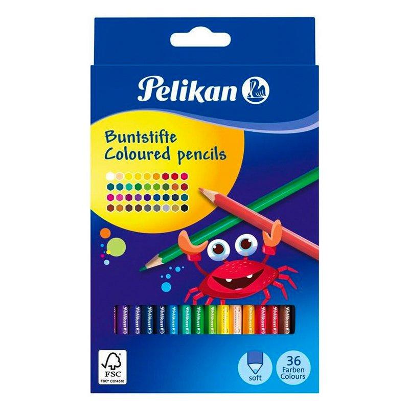 Ξυλομπογιές Pelikan 36 Χρωμάτων