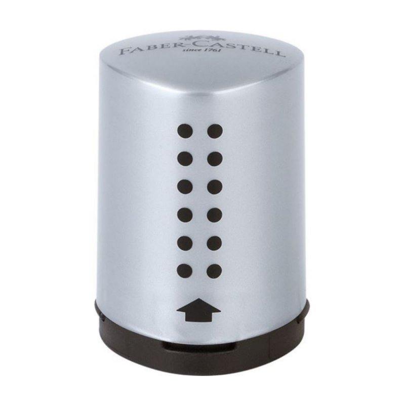 Ξύστρα Faber-Castell Grip Mini Ασημί