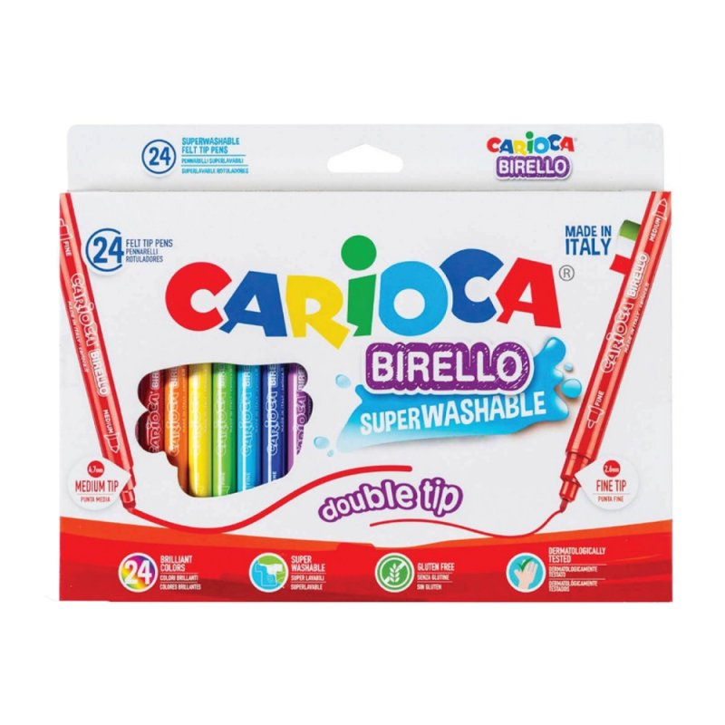Μαρκαδόροι Carioca Birello 24 Χρωμάτων