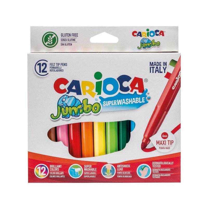 Μαρκαδόροι Carioca Jumbo 24 Χρωμάτων Χονδροί