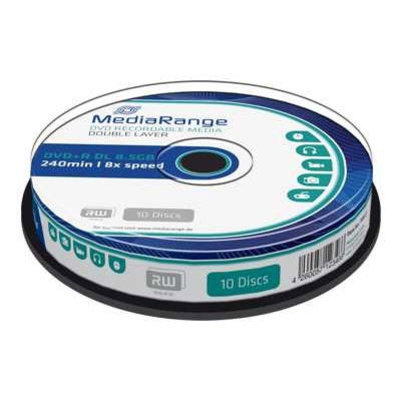 DVD+R Dual Layer 240 8.5GB 8x MediaRange 10 Τεμ. (MR466)