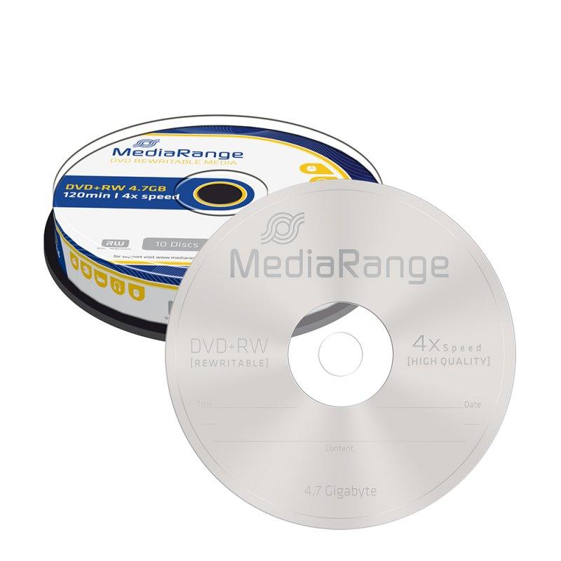 DVD+RW 120 4.7GB 4x Rewritable MediaRange 10  Τεμ. (MR451)