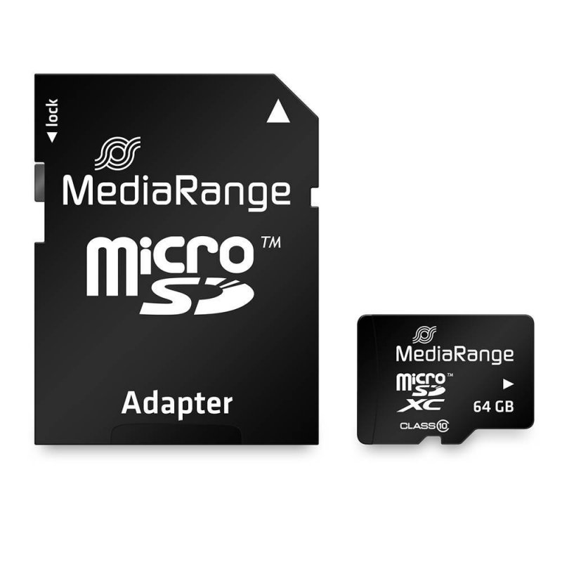 Κάρτα Μνήμης MediaRange Micro SDXC Class 10 With SD Adaptor 64 GB (eXtended Capacity) (MR955)