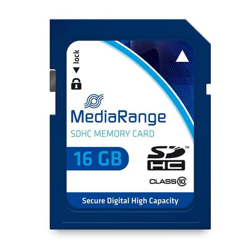 Κάρτα Μνήμης MediaRange SDHC Class 10 16 GB (High Capacity) (MR963)