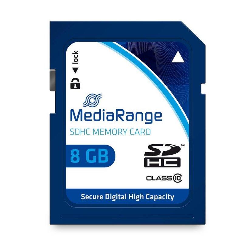 Κάρτα Μνήμης MediaRange SDHC Class 10 8 GB (High Capacity) (MR962)