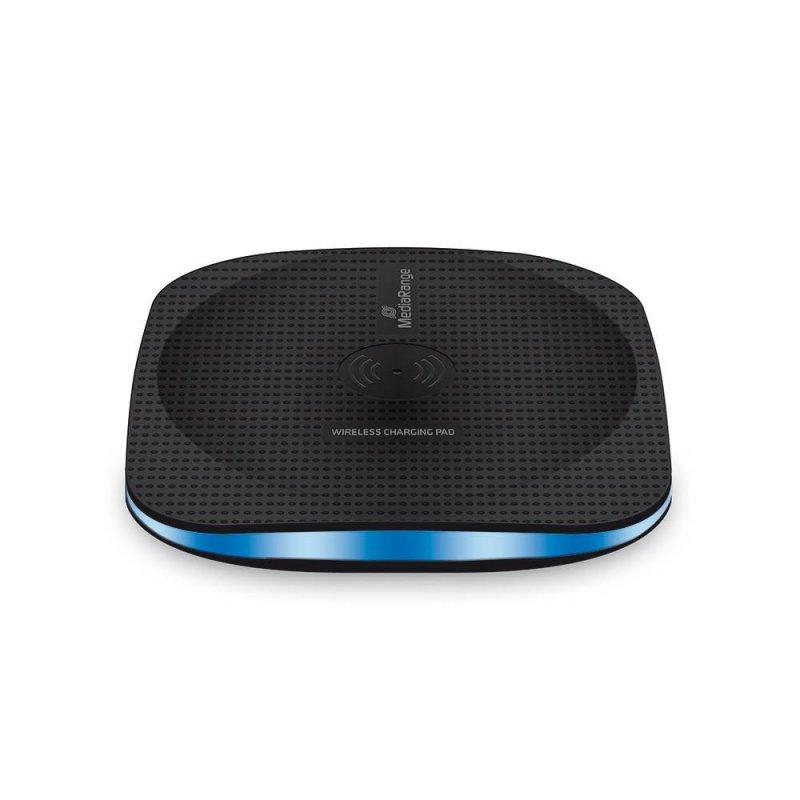 Φορτιστής Ασύρματος για Smartphones MediaRange Wireless Charging Pad Μαύρος (MRMA110)