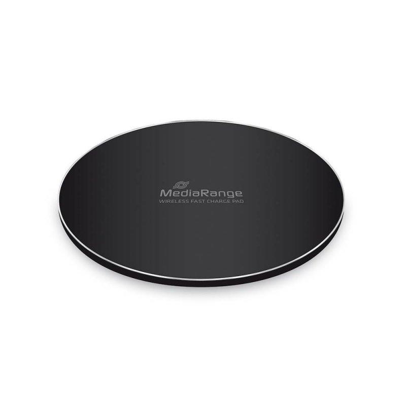Φορτιστής Ασύρματος για Smartphones MediaRange Wireless Fast Charge Pad Μαύρος (MRMA111)