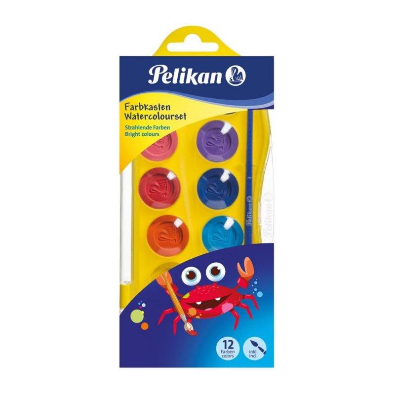 Νερομπογιές Pelikan 12 Χρώματα