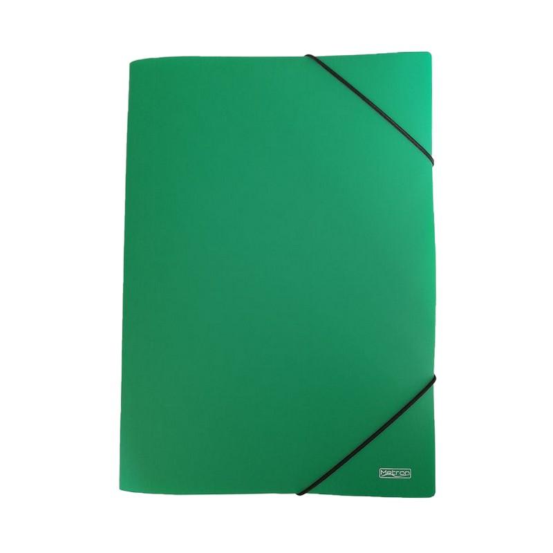 Ντοσιέ Με Λάστιχο PP Metron Πράσινο 05121 (25x35cm)
