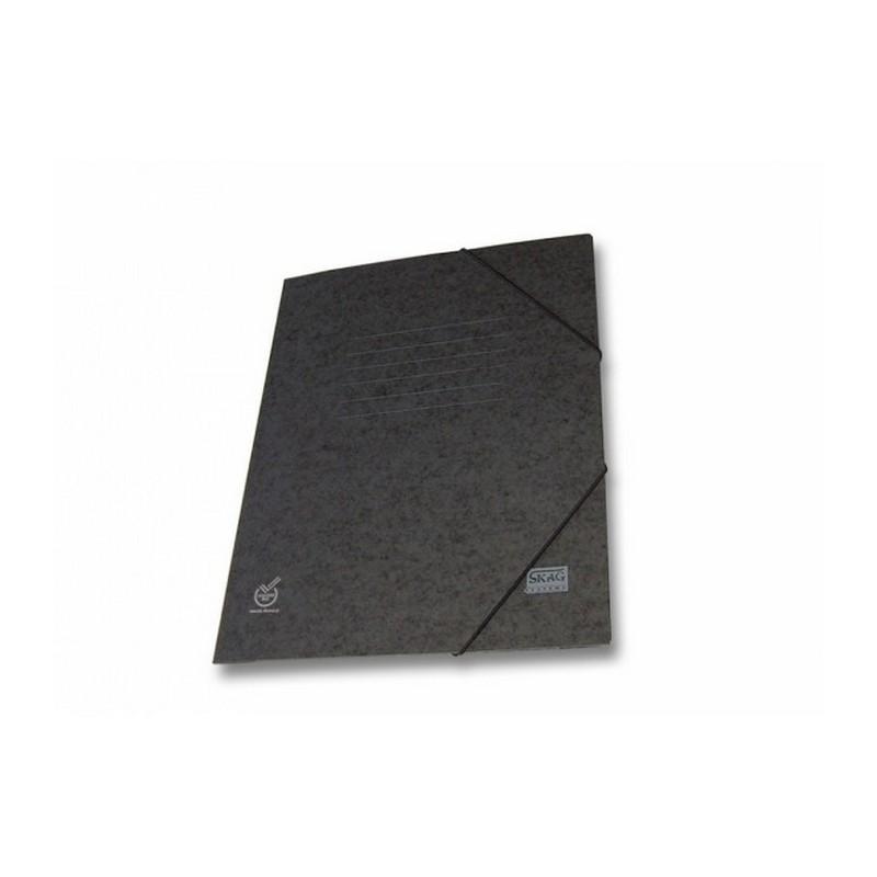 Ντοσιέ Με Λάστιχο Prespan Skag Economy Μαύρο  (25x35)