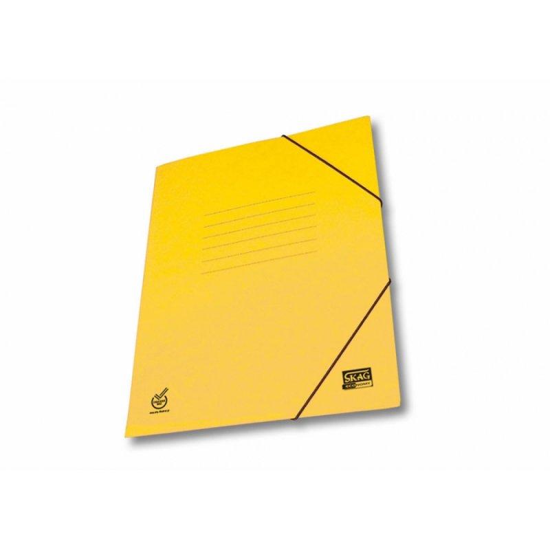 Ντοσιέ Με Λάστιχο Prespan Skag Economy Κίτρινο (25x35)