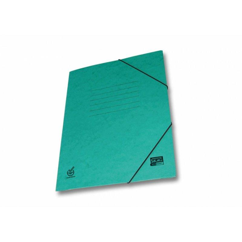 Ντοσιέ Με Λάστιχο Prespan Skag Economy Πράσινο (25x35)