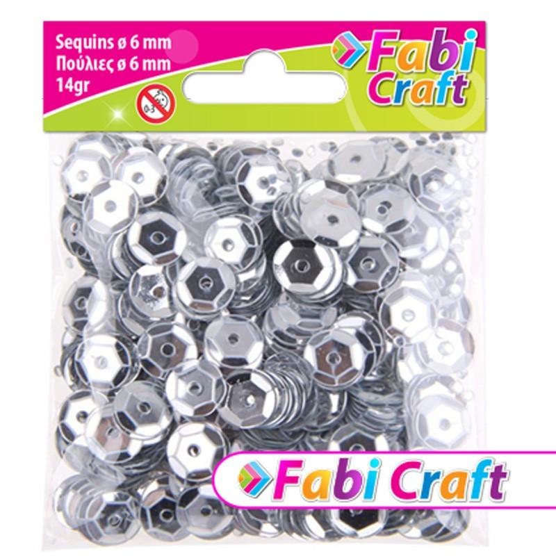 Πούλιες Στρογγυλές Fabi Craft Σε Ασημί Χρώμα 6mm 130312