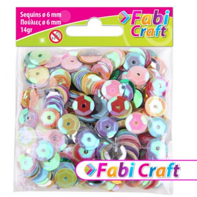 Πούλιες Στρογγυλές Fabi Craft Σε Διάφορα Χρώματα 6mm 130310