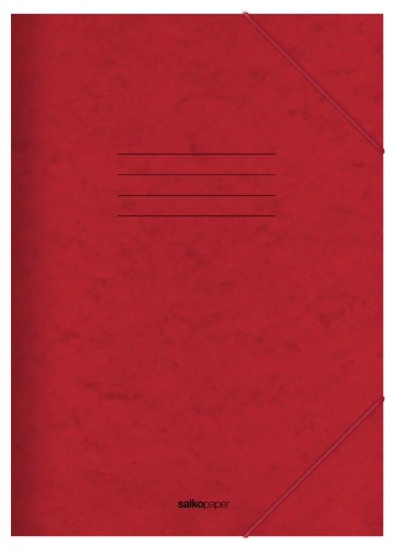 Φάκελος με Λάστιχο Prespan Salko Κόκκινο 2521