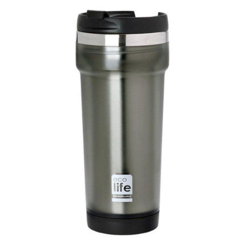 Θερμός ecolife Ανοξείδωτος 420ml Grey 33-BO-4010