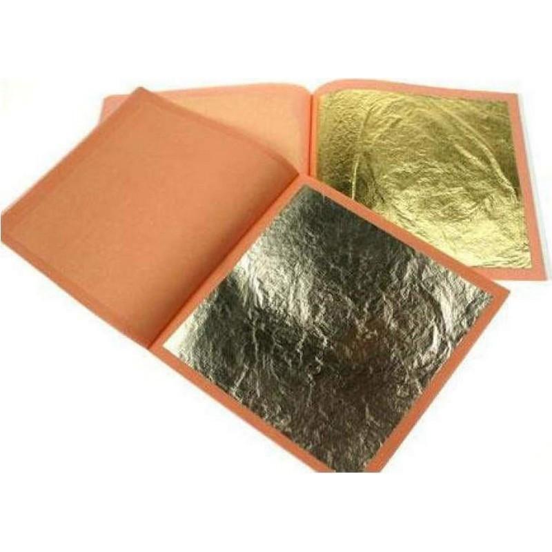 Χρυσά Μεταλλικά Φύλλα Sinoart (14x14cm)