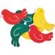 Ξύλινα Πουλάκια Junior Art School 6τμχ 137215
