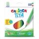 Ξυλομπογιές Carioca Tita 24 Χρωμάτων