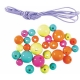 Σετ Μενταγιόν Junior Art School Σε  Διάφορα Χρώματα Χάντρες & Σκοινάκι 72τμχ 137521