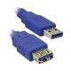 Καλώδιο USB 3.0 Extension MediaRange AM/AF 3.0M Μπλε (MRCS145)