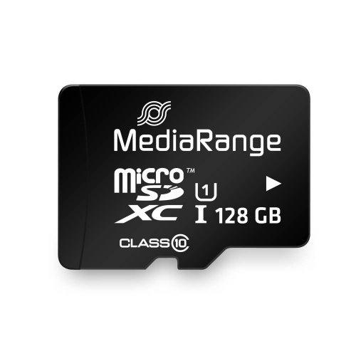 Κάρτα Μνήμης MediaRange Micro SDXCI Class 10 UHS-1 With SD Adaptor 128 GB (eXtended Capacity) (MR945)