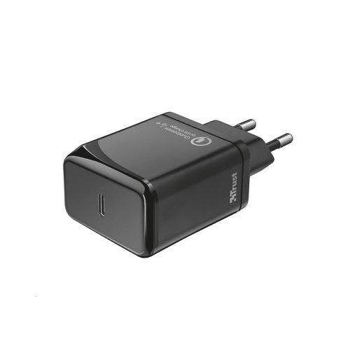 Φορτιστής Trust Velox18 Advanced Ultra-Fast USB-C Wall Charger with PD3.0 & QC4+ (23140) (TRS23140)