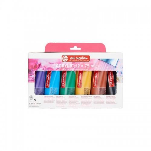Ακρυλικά Χρώματα  Royal Talens 12 Τεμάχια (75ml) - 2