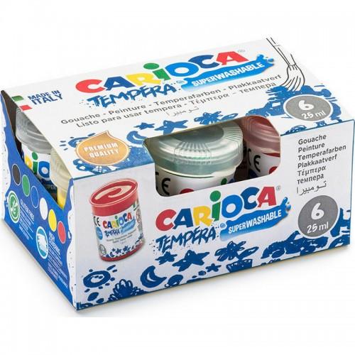 Τέμπερες Carioca 6 Χρώματα 25ml - 1