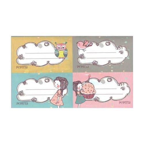 Ετικέτες Αυτοκόλλητες (for girls) Ang 16τμχ - 1