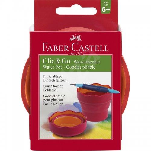 Πτυσσόμενο Δοχείο Ακουαρέλας Faber-Castell Κόκκινο 181517 - 6
