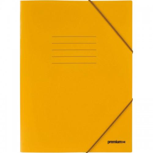 Ντοσιέ Με Λάστιχο Prespan Premium Κίτρινο 12808 (25 x 35 cm)