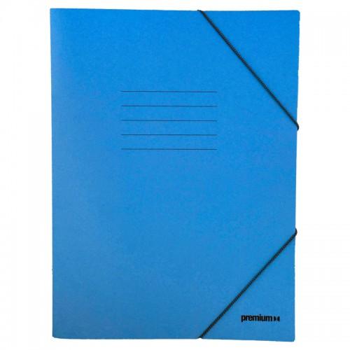 Ντοσιέ Με Λάστιχο Prespan Premium Μπλε 12803 (25 x 35 cm) - 1