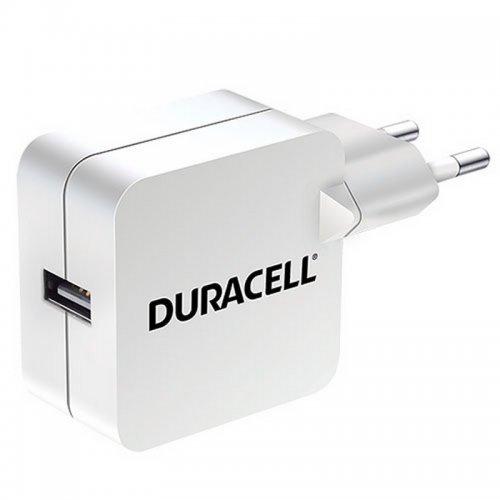 Φορτιστής Κινητού Λευκός Duracell with Single USB 2.4A