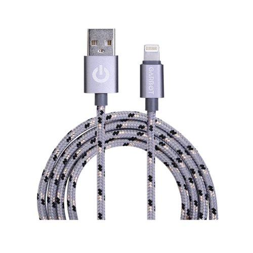 Καλώδιο Φόρτισης Κινητού Τηλεφώνου Garbot Grab&Go USB A Lightning 1m Ασημί (C-05-10189) (GARC-05-10189) - 1